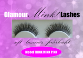 1 Paar Glamour Mink Lashes Model 06 THINK MINK PINK
